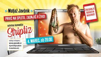 Matjaž Javšnik: poslovilna predstava Striptiz (online)