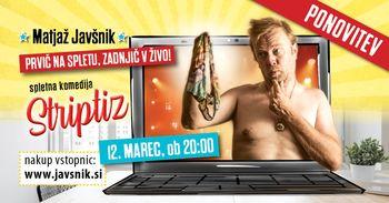 Matjaž Javšnik: poslovilna spletna komedija Striptiz
