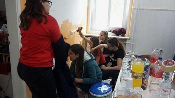 Pleskanje prostorov Medgeneracijskega centra Šentilj
