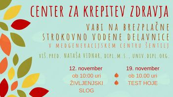 Center za krepitev zdravja: Nataša Vidnar: Strokovna delavnica: Življenjski slog