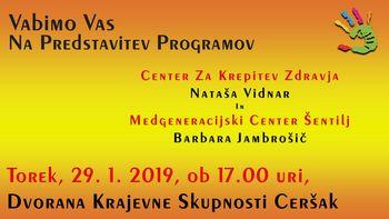Predstavitev programov v KS Ceršak