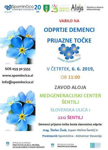 Odprtje demenci prijazne točke v Medgeneracijskem centru občine Šentilj