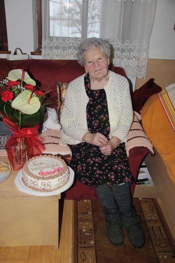 98 let Marije Zupančič iz Ajdovca