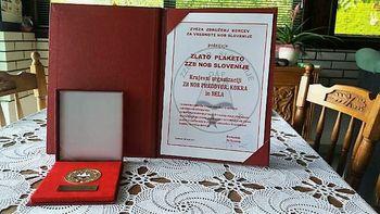Pomembno priznanje Občinski organizaciiji Zveze borcev za vrednote NOB Preddvor