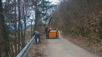 Nova odbojna ograja na cesti Možjanca - Štefanja gora