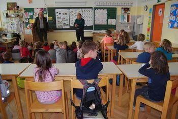 Lovske učne ure v Osnovni šoli Matije Valjavca v Preddvoru