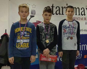 Zlato in bron za šahiste OŠ Preddvor na Medobčinskem prvenstvu osnovnih šol v šahu