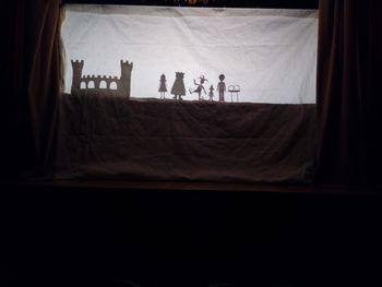 Prstani za princesko Francesko, predstava s senčnimi lutkami KUD Matije Valjavca Preddvor
