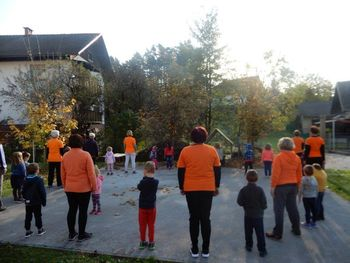 V Čričku so telovadili skupaj s Šolo zdravja Preddvor