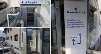 Nova lokacija blagajne podjetja Komunala Kranj