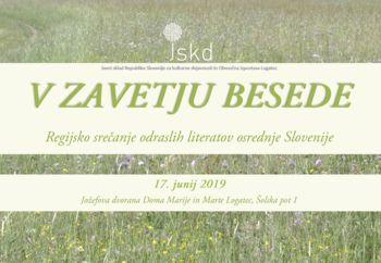 V ZAVETJU BESEDE, regijsko srečanje odraslih literatov osrednje Slovenije
