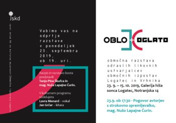 OBLO IN OGLATO, območna razstava odraslih likovnih ustvarjalcev