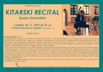Kitarski recital Špele Simonišek