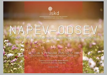 NAPEV-ODSEV, območna revija poustvarjalcev glasbenega izročila Slovenije
