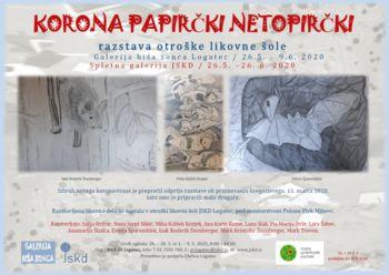 Korona Papirčki netopirčki – razstava otroške likovne šole JSKD Logatec 2020