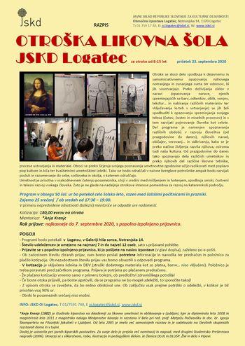 RAZPIS/ Otroška likovna šola JSKD Logatec