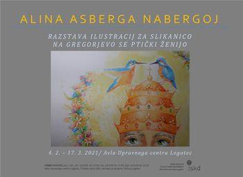 Razstava ilustracij Aline Asberge Nabergoj v Upravnem centru Logatec