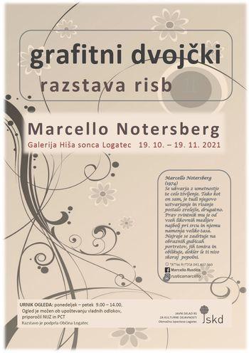 Grafitni dvojčki, razstava risb Marcella Notersberga