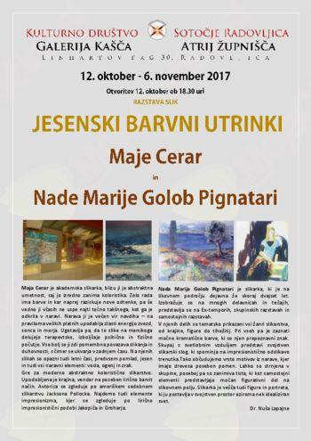 Razstava  - Župnišče Radovljica 12.10.2017