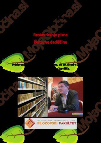 Restavriranje pisne kulturne dediščine