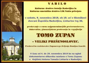 Tomo Zupan - veliki prešernoslovec