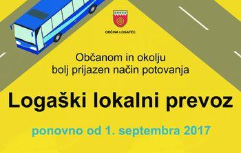Logaški lokalni prevoz ponovno od 1. septembra dalje