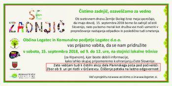 Logatec se pridružuje akciji Očistimo Slovenijo 2018