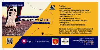 42. maraton v 42 dneh, Športno-dobrodelni projekt za Male viteze v Logatcu