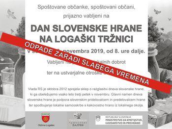 Odpovedan dogodek Dan slovenske hrane na tržnici v Logatcu