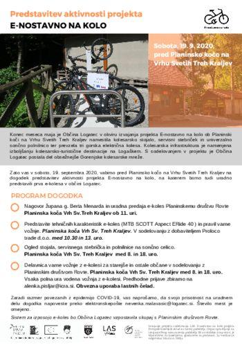 Električna kolesa na Vrhu Sv. Treh Kraljev