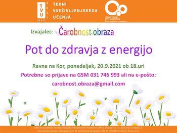 Pot do zdravja z energijo :)
