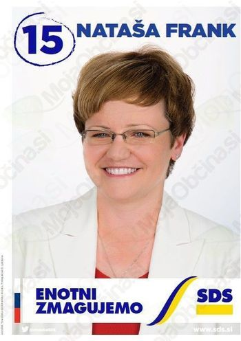 Kandidatka SDS Nataša Frank - 15