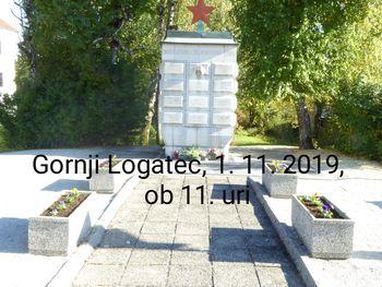 Komemoracija ob Dnevu spomina na mrtve pri spomeniku NOB v Gorenjem Logatcu