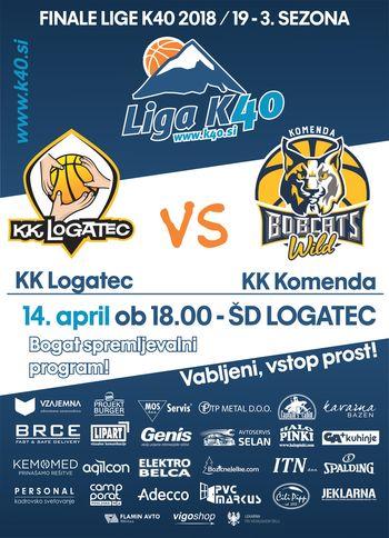 Finalna tekma košarkarske lige K40 - KK Logatec : Komenda Bobcats