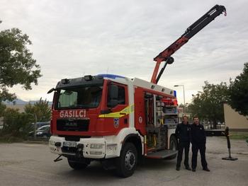 Slavnostna predstavitev novega vozila in prikaz vaje reševanja