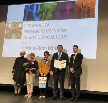 Občini Ajdovščina priznanje Andragoškega centra Slovenije
