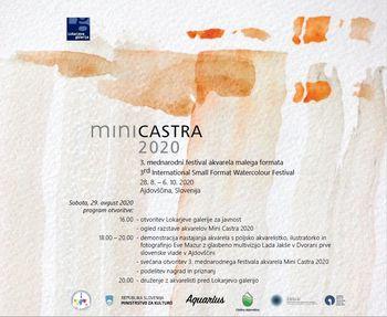 3. Mednarodni festival akvarela malega formata Mini Castra 2020