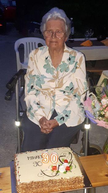 90 let Mihaele Mislej z Goč