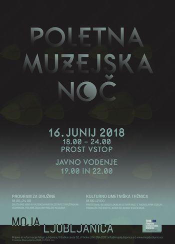 Poletna muzejska noč 16. junija na razstavi Moja Ljubljanica
