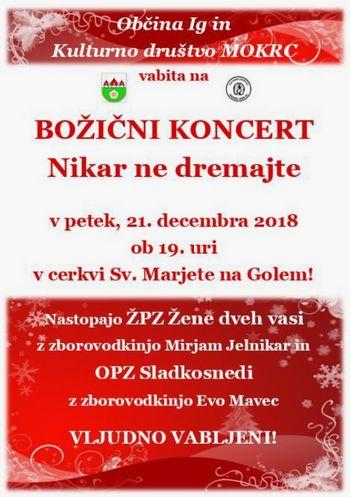 Božični koncert NIKAR NE DREMAJTE