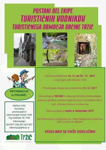 Tečaj za lokalne turistične vodnike za turistično območje Občine Tržič