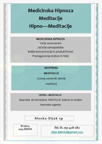 Meditacije Bled, in  Hipno - Meditacije Kranj