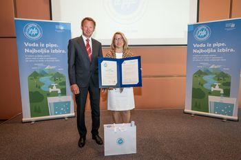 JKP Brezovica prejelo certifikat Voda iz pipe