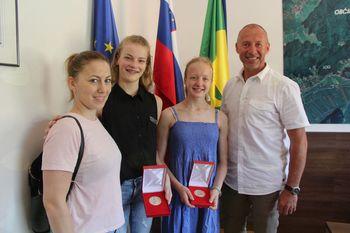 Županova petka za odlični gimnastičarki
