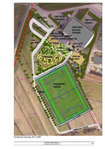 Načrt za širitev športnega parka Horjul
