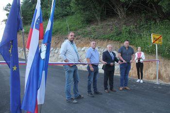 Otvoritev prenovljene ceste na Koreno
