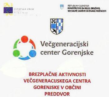 Oktobrski program brezplačnih aktivnosti Večgeneracijskega centra Gorenjske za Preddvor