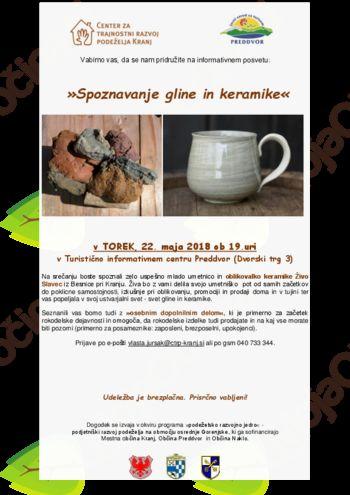Spoznavanje gline in keramike v preddvorskem TICu