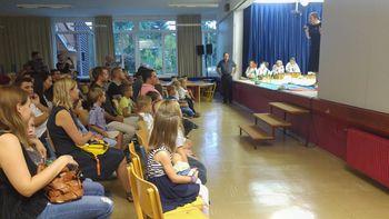 Sprejem prvošolcev na OŠ Bežigrad