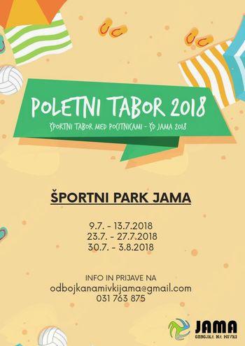 Poletni tabori v športnem parku Jama